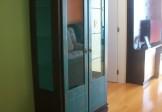 Cristaleira 2 portas com adega e laterais de vidro