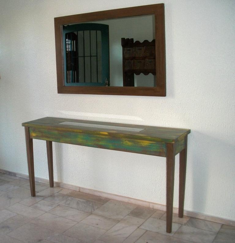 Armario De Nenuco Carrefour ~ Aparador de madeira e Espelho DEHOUSE